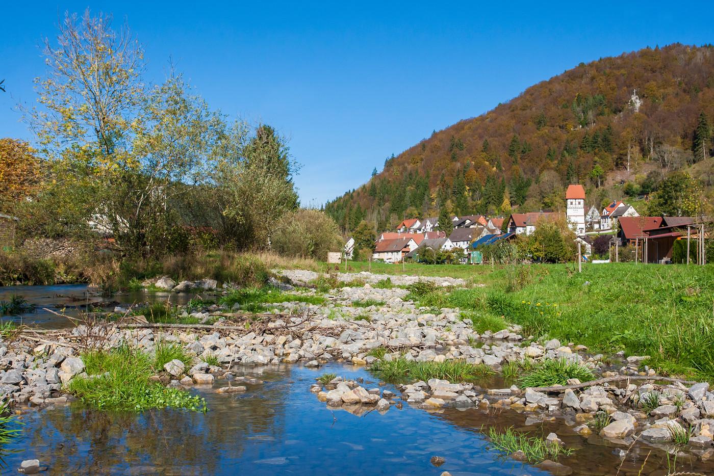 Fluss Obere Bära vor Nusplingen