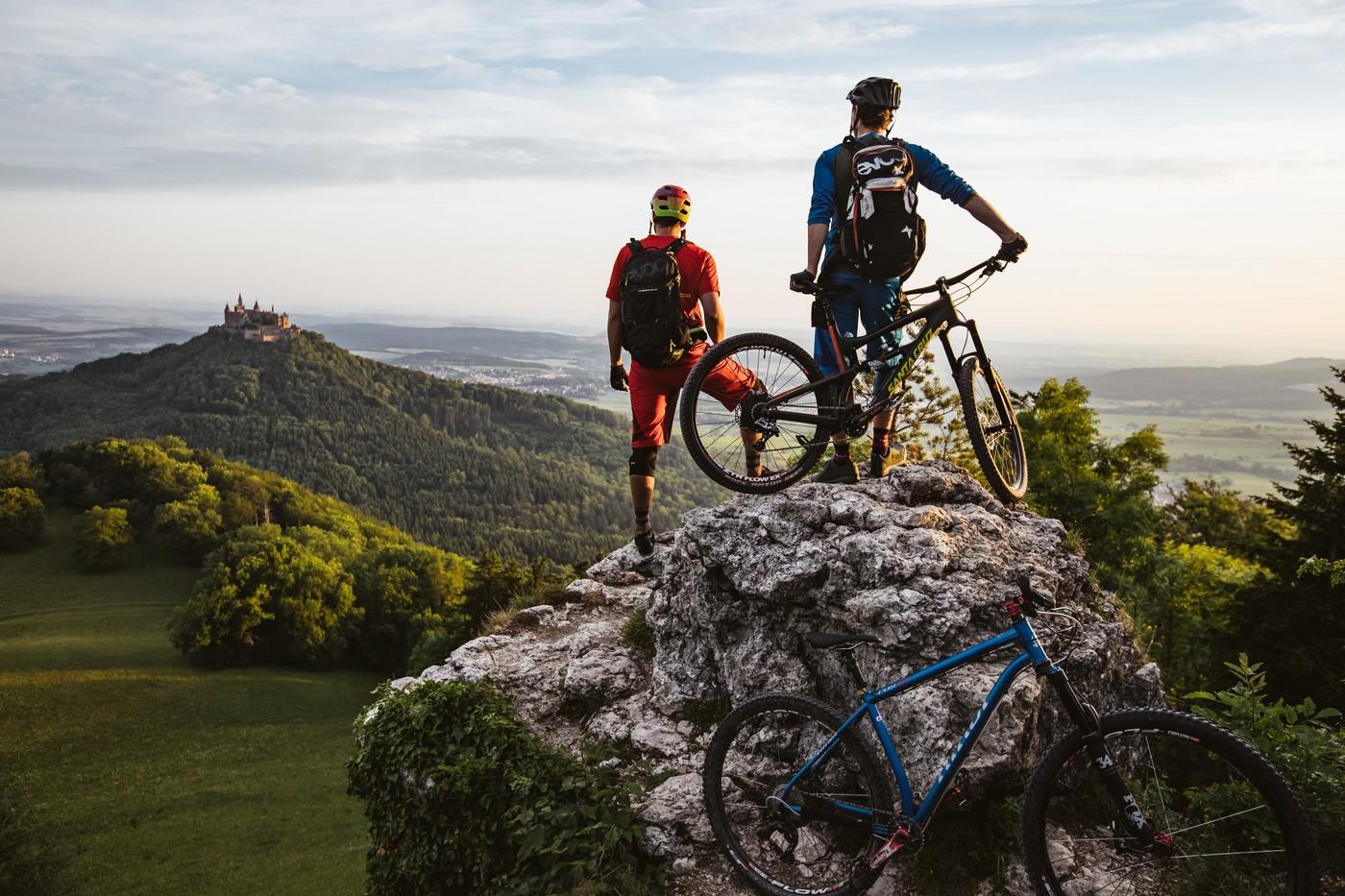 Mountainbiker am Zeller Horn, Gonso-Trail
