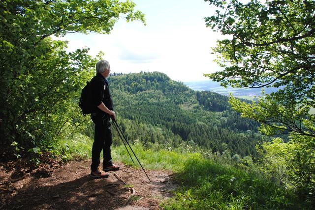 Wanderer auf dem Donau-Zollernalb-Weg