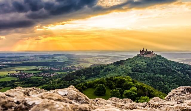 Burg Hohenzollern vom Zeller Horn, 1. Fotowettbewerb 2015