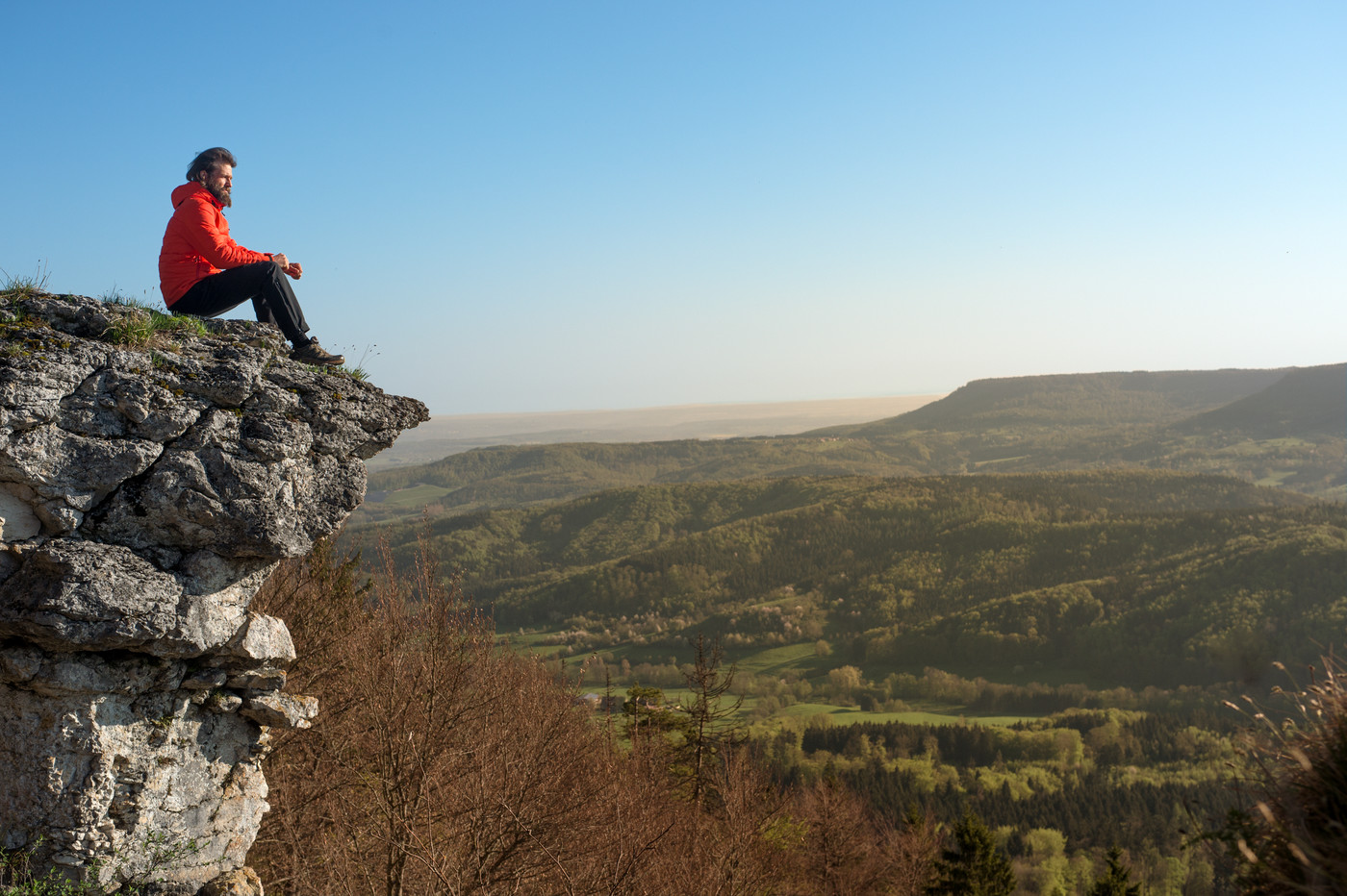 Wanderer am Hangenden Stein