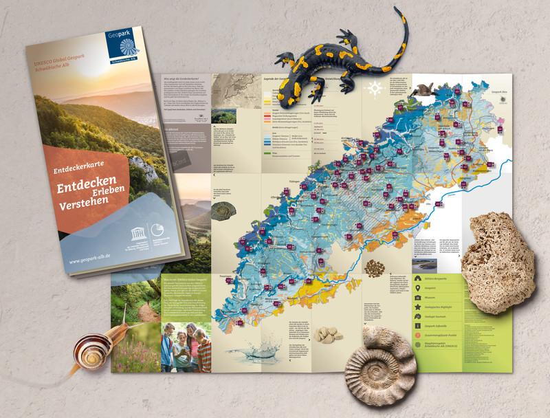 Geopark-Entdeckerkarte