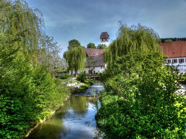 Blick auf Pfarrkirche Dautmergen, Fotowettbewerb 2015